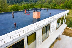 Modified Bitumen Flat Roofing on Commercial Roof