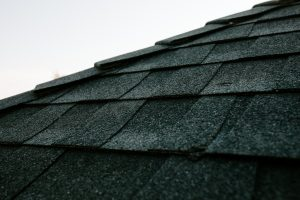 Malarkey Highlander NEX Architectural Shingles in Midnight Black on Residential Roof Close-up