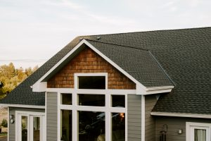GAF Timberline HD Architectural Shingles in Charcoal on Residential Roof Two