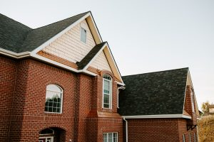 Malarkey Vista Architectural Shingles in Black Oak on Residential Roof Fourth Side View