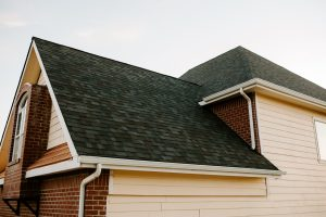 Malarkey Vista Architectural Shingles in Black Oak on Residential Roof Third Side View