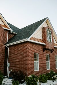Malarkey Vista Architectural Shingles in Black Oak on Residential Roof Fifth Side View