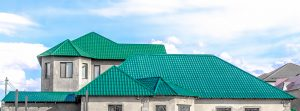 Green Metal Roofing on Residential Roof