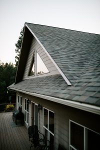 Malarkey Highlander NEX Architectural Shingles in Natural Wood on Residential Roof Third Side Gable