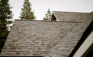 Malarkey Highlander NEX Architectural Shingles in Natural Wood on Residential Roof Side View