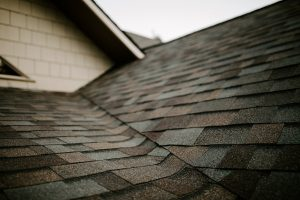 Malarkey Highlander NEX Architectural Shingles in Natural Wood on Residential Roof Closeup