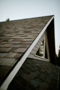 Malarkey Highlander NEX Architectural Shingles in Natural Wood on Residential Roof Gable