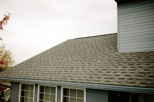 GAF Timberline HD Architectural Shingles in Slate on Residential Roof Side