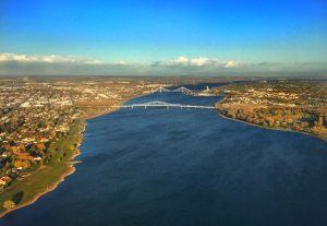 Columbia River flowing through the Tri-Cities of Washington