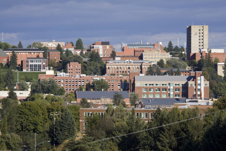 Washington State University campus in Pullman, Washington